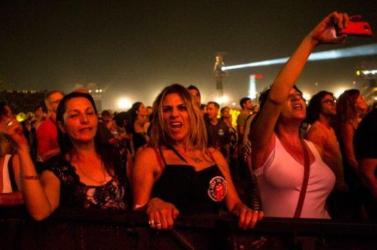 """Una de las personalidades más comprometidas con BDS es Roger Waters, miembro fundador del grupo de rock progresivo Pink Floyd, cuya canción """"The Wall"""" se ha convertido en el himno de la lucha contra la barrera de seguridad israelí, calificada de """"muro del apartheid"""" por los palestinos. Waters ha exhortado a otros músicos a no actuar en Israel, en nombre del boicot cultural. Fuente: AFP"""