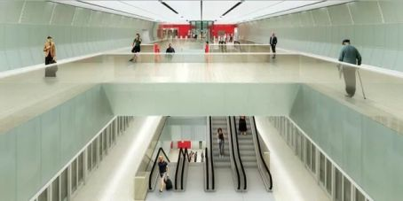 Ilustración futuro  Metro de Tel Aviv.