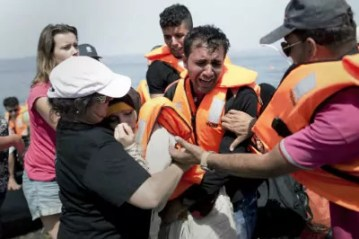 Inmigrantes en Lesbos