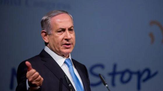 El primer ministro, Benjamin Netanyahu, habla durante la conferencia 37º Congreso Sionista Mundial en el Centro de Convenciones de Jerusalén el 20 de octubre de 2015. (Yonatan Sindel / Flash90)