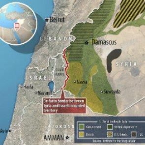 Mapa frontera sirio israelí de donde se rescata heridos sirios