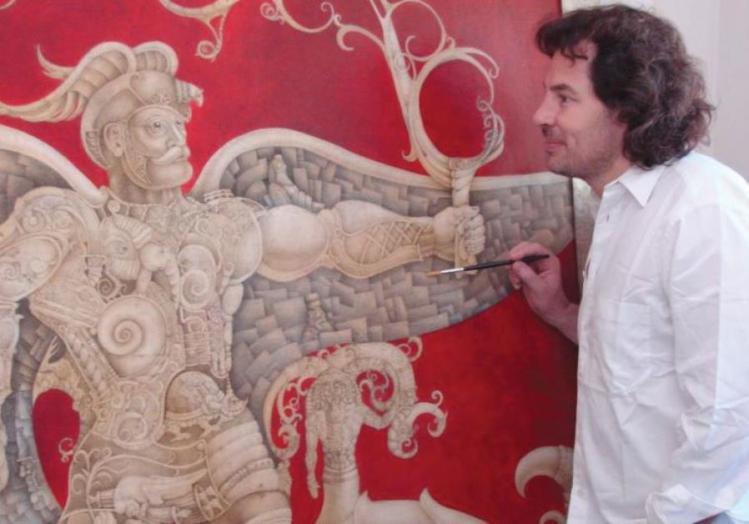 El artista judío chileno Mauricio Avayu lleva la Torá al lienzo
