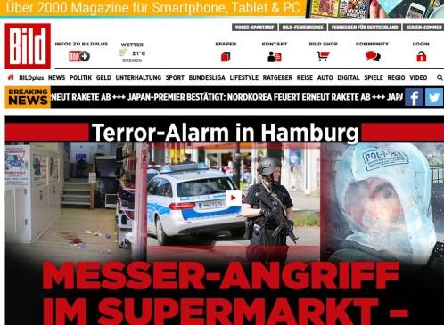 Islamista radical mata a uno y hiere a seis más en Hamburgo