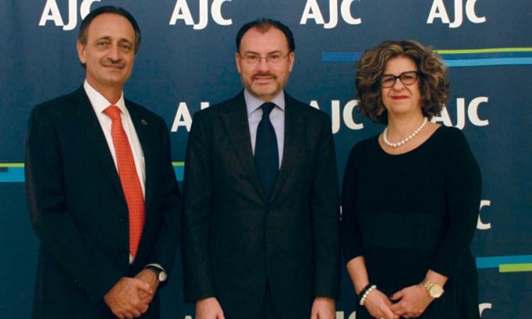 Fortalece el Canciller Videgaray vínculos de México con la comunidad judía en EUA