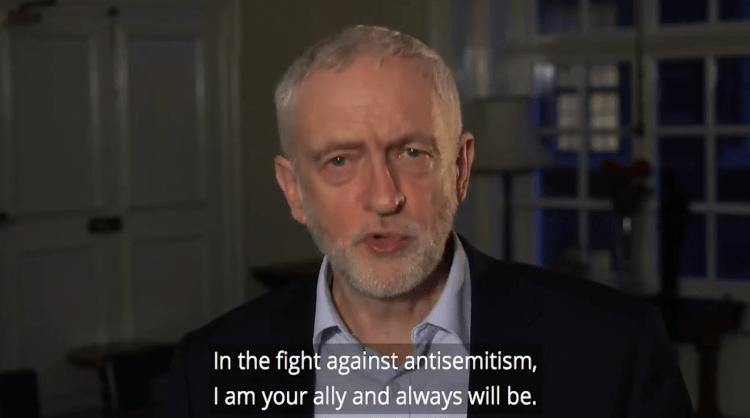 """""""Soy su aliado contra el antisemitismo"""", dice líder del partido laborista británico a judíos"""