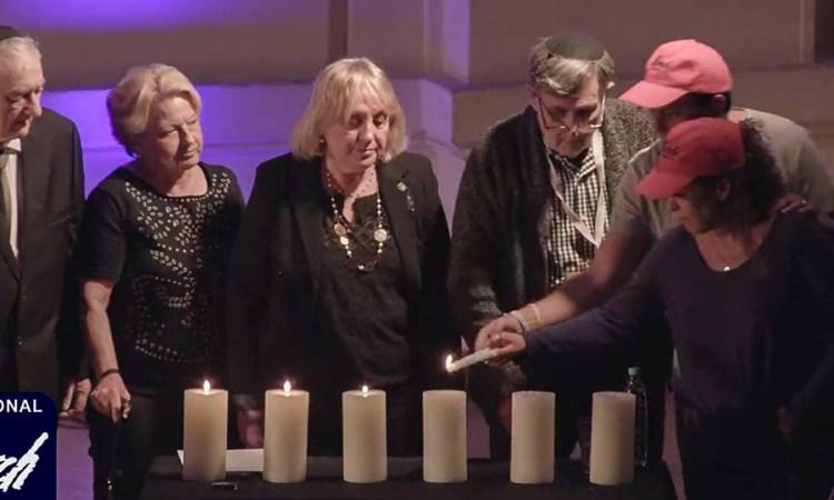 En presencia de miembros de la Knesset, dos mexicanos encienden velas de Yom Hashoá en Polonia