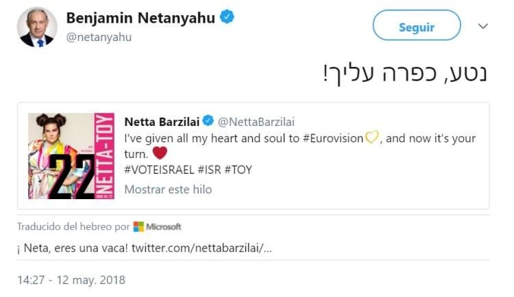 ¿Una vaca? El traductor automático traiciona a Netanyahu en Twitter