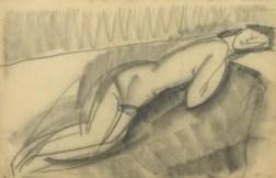 "Amedeo Modigliani, ""Desnudo femenino acostado sobre su lado izquierdo"". Paul Alexandre Family, cortesía de Richard Nathanson, Londres. Imagen proporcionada por Richard Nathanson, fotografiada por Prudence Cuming Associates, Londres."
