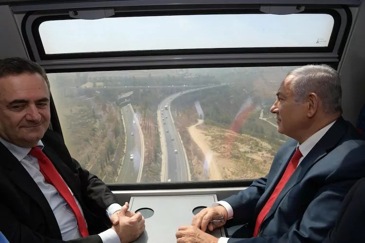 Netanyahu inaugura tren rápido de Jerusalén a Tel Aviv