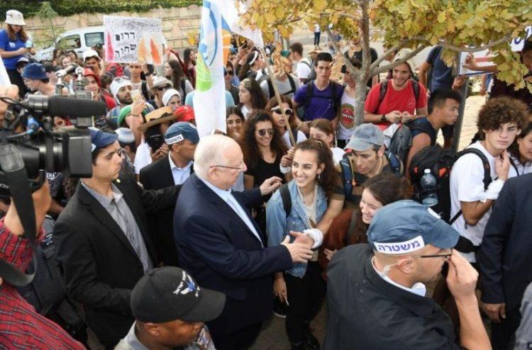 La marcha de estudiantes desde la frontera de Gaza llega a Jerusalén
