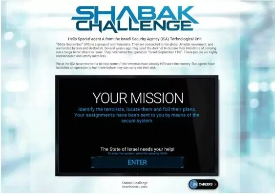 ¿Quieres unirte al Shin Bet? Prueba el nuevo desafío de la agencia de Inteligencia