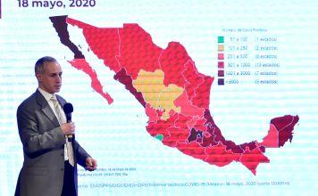 La Secretaría de Salud reportó que registró 5 mil 332 decesos y 51 mil 633 casos confirmados por COVID-19 en México, tras sumar 155 nuevas defunciones