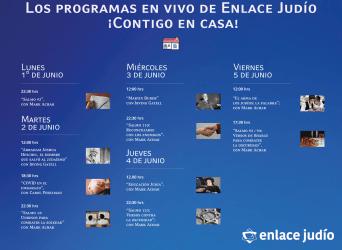 Del 1° al 5 de Junio / Programación en vivo de Enlace Judío