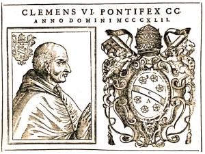 Un día como hoy, 6 de julio pero de 1348, el papa Clemente VI emite una bula papal para proteger a los judíos durante la peste negra.