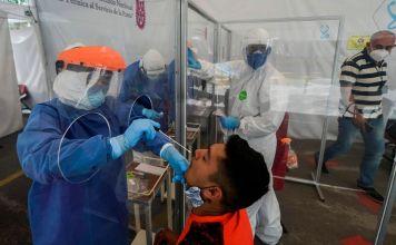 La Secretaría de Salud informó que hasta este lunes, se han registrado 349 mil 396 contagios positivos y 39 mil 485 decesos por COVID-19 en México