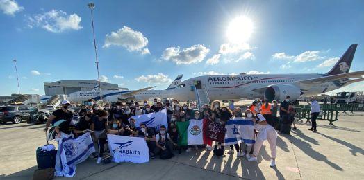 Por primera vez, llega a Israel un vuelo chárter de Aeroméxico con Olim y muchachos de Ajshará