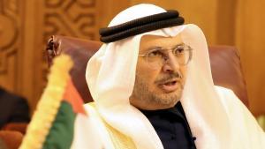 """""""Seguimos instando a los palestinos e israelíes a volver a la mesa de negociación"""" puntualizó el ministro de EAU, Anwar Gargash."""