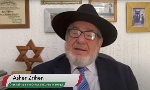 El rabino Asher Zrihen bendijo al Rey Mohamed VI en aniversario de su entronización