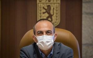 El comisionado de Israel para COVID-19, Ronni Gamzu, durante una junta gubernamental