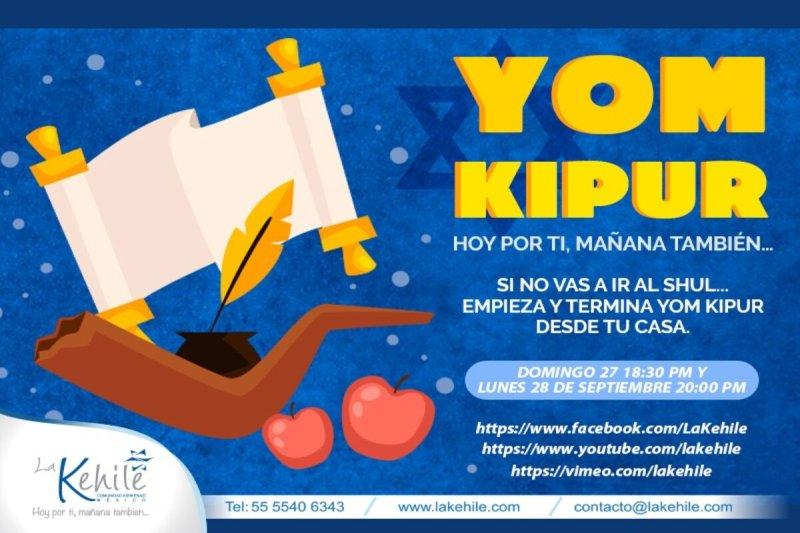 La Kehile llevará este domingo 27 y el lunes 28 de septiembre por medio de vídeos servicios de Yom Kipur para que empieces y termines Yom Kipur desde casa