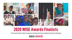 Cartel promocional de los premios WISE Awards 2020