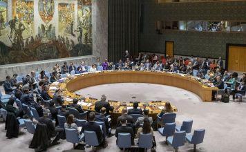 El Consejo de Seguridad de la ONU durante una sesión