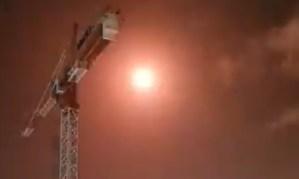 Explosión de cohete Tamir del Domo de Hierro cerca de la ciudad de Ashkelon, en el sur de Israel