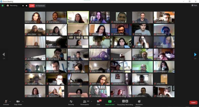 Captura de pantalla del evento virtual por el 2° Encuentro de Sustentabilidad