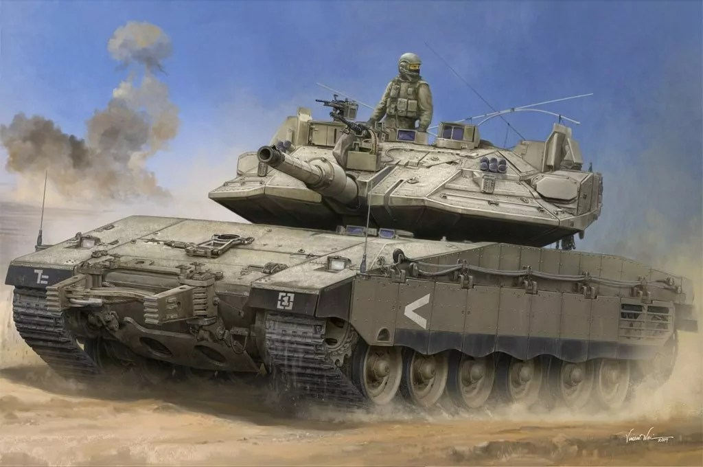 El tanque israelí Merkava VI en operación