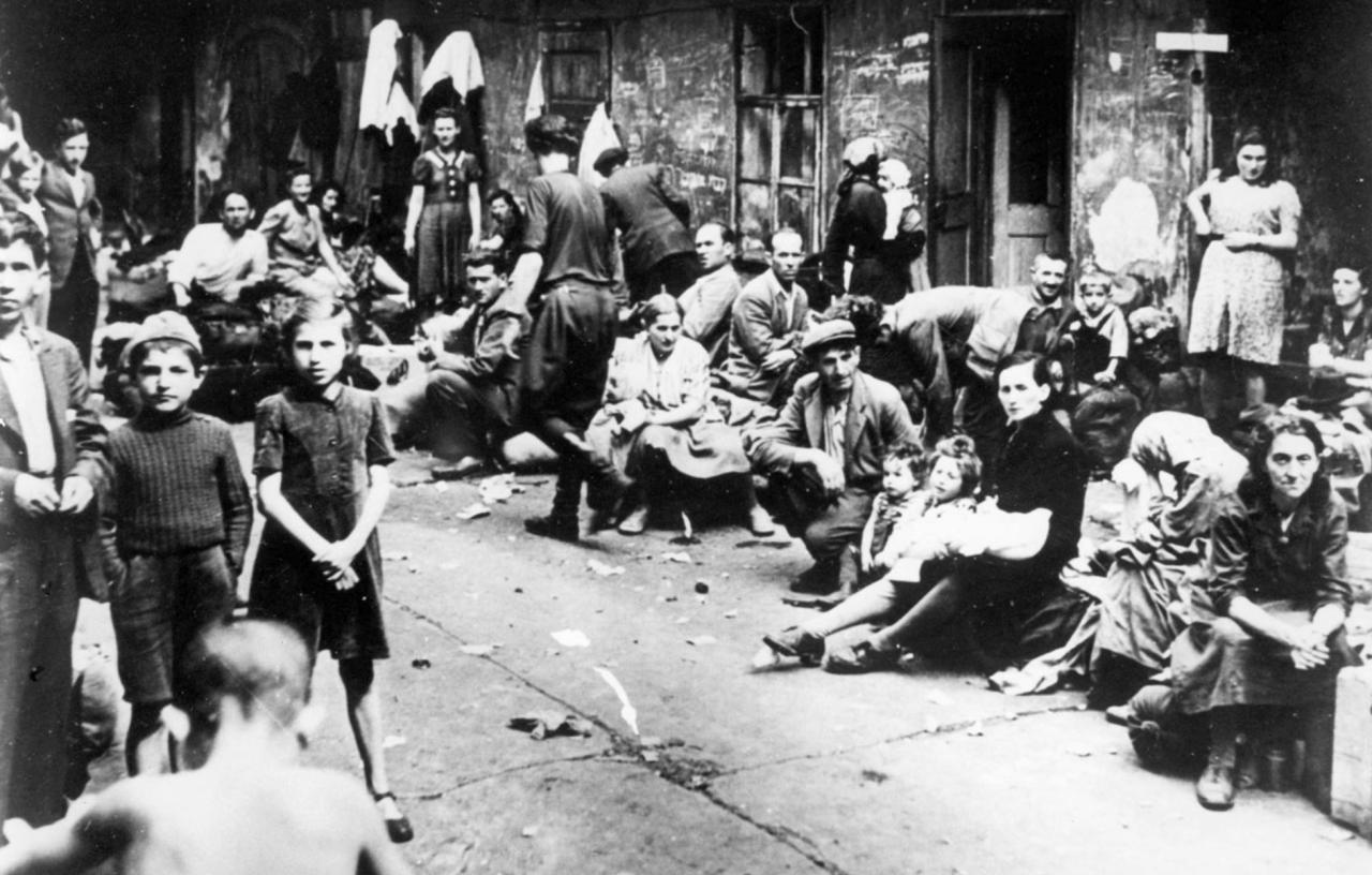 Un pogromo en Polonia en 1918