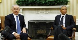 Barak Obama y Benjamín Netanyahu durante una reunión en la Casa Blanca