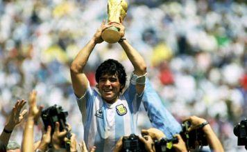 Maradona en la final del Mundial de México 86