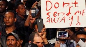 Manifestación de sudaneses en Israel