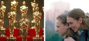 Imágenes de estatuillas de Premios Óscar y de la cinta israelí Asia