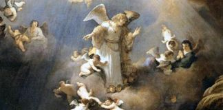 ángeles entre nubes
