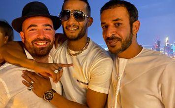 El cantante egipcio Mohamed Ramadan rcon el cantante israelí Omer Adam en Dubai