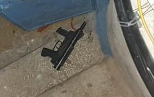 Arma usada en el atentado ocurrido en Jerusalén el 21 de diciembre de 2020