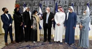 El presidente de Israel con representantes de Baréin