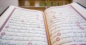 Un libro del Corán abierto