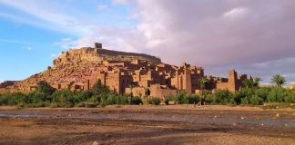 Paisaje del valle de Draa en Marruecos
