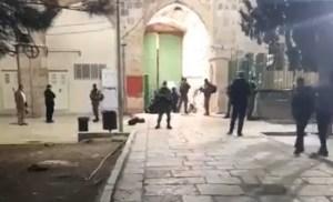 Puerta de la Ciudad Vieja de Jerusalén el 21 de diciembre de 2020