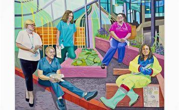 La pintora judía mexicana Aliza Nisenbaum creó para Tate Liverpool, una serie de retratos inspirada en personal de salud que combate la pandemia