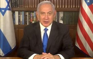 Benjamín Netanyahu enviando un mensaje