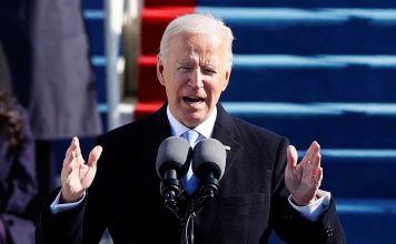 Joe Biden en su discurso de investidura