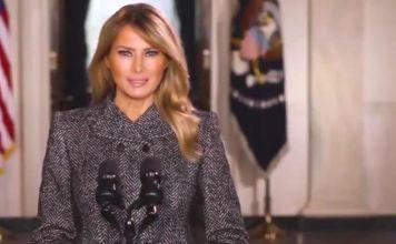 """La todavía primera dama de EE. UU., Melania Trump dio un mensaje de despedida este lunes, reflexionando sobre sus cuatro años """"inolvidables"""" en la Casa Blanca."""