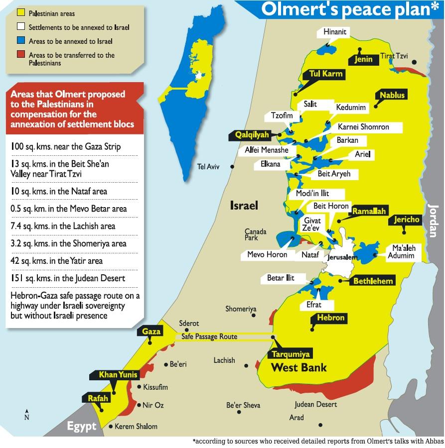 Plan de paz propuesto por el primer ministro Olmert