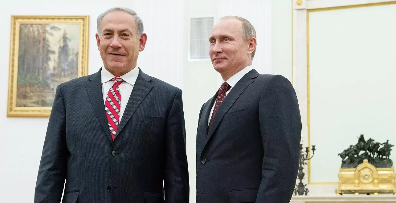 Benjamín Netanyahu y Vladimir Putin