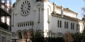Vista exterior de una sinagoga
