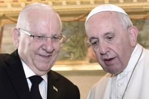 El papa Francisco y el presidente de Israel, Reuven Rivlin