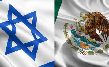 Banderas de Israel y México